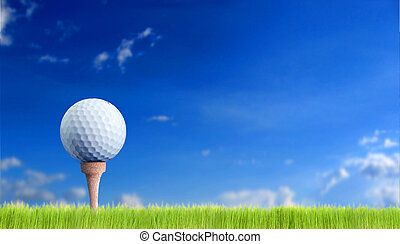 golf ball over the sky