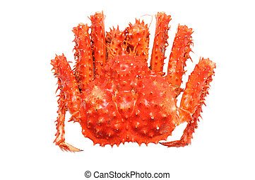 Alaskan king crab - Prepared Alaskan king carb in isolated...