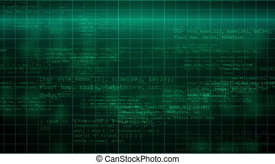 Software programmer code move in frotn of the camdera under...