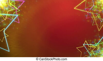 Holiday Animated colorful stars in sides - Red Holiday...