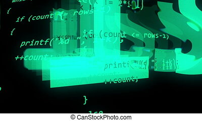 """Abstract coding programmer code screen."" - ""Abstract coding..."