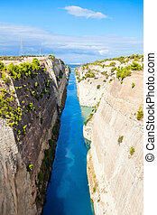Corinth Canal in Greece - The Corinth Canal is a canal that...