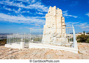 Philopappos Monument in Athens - Philopappos Monument is...