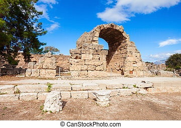 Ancient Corinth in Greece - Archeological site located close...