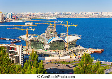 Caspian Waterfront Mall, Baku - Constuction of the Caspian...