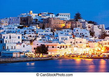 isla,  Naxos, aéreo, vista