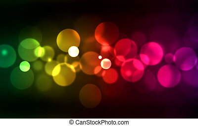 blurred lights - abstract background with blurred lights