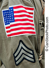 American Uniform - Close up of the American unifrom, second...