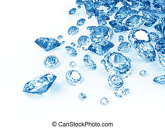 azul, diamantes
