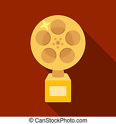 The Golden reel of film.Award for the best playback of the...