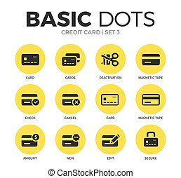 Credit card flat icons vector set - Credit card flat icons...
