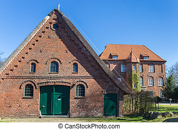 Barn at the baroque castle Agathenburg in Lower Saxony,...