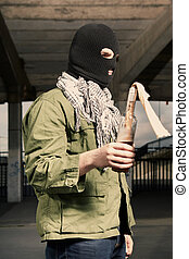 Extremist with dangerous flammable bomb - Anarchist in...