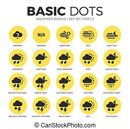 Weather bonus flat icons vector set - Weather bonus flat...