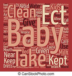 TIPS FOR THE SAFETY OF KIDS text background wordcloud...