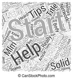 Tips on starting a home business Word Cloud Concept