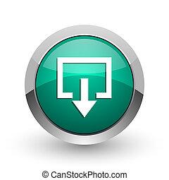 web, ronde, Chroom, metalen, achtergrond, afslaf, groene,  Internet, Ontwerp, witte, schaduw, zilver, pictogram