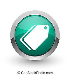 web, ronde, Chroom,  ticket, metalen, achtergrond, Ontwerp,  Internet, groene, schaduw, Etiket, witte, zilver, pictogram