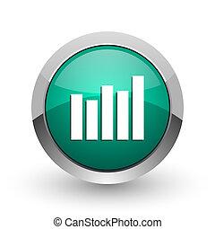 web, ronde, Chroom, grafiek, metalen, achtergrond, Ontwerp,  Internet, groene, witte, schaduw, zilver, pictogram