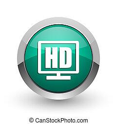 web, schaduw,  display, Chroom, metalen, achtergrond, Ontwerp,  HD,  Internet, groene, witte, ronde, zilver, pictogram