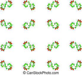 Abstract seamless floral pattern - Abstract floral pattern...