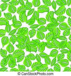 Leaves pattern illustration - Summer leaves pattern...