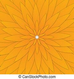 Flower pattern - A geometric flower pattern on white...