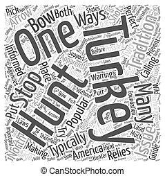 turkey hunting Word Cloud Concept