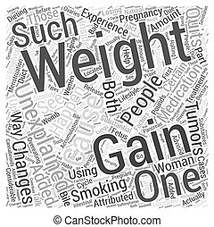 unexplained weight gain Word Cloud Concept