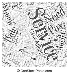Understanding Attorney Services Fees Word Cloud Concept