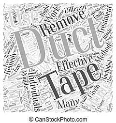 Wart Removal with Duct Tape Does It Really Work Word Cloud...