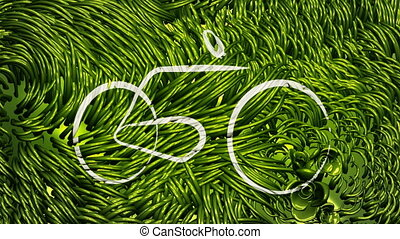 Bicycle and Go Green Scribblings - Two animations of a...