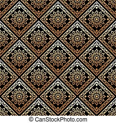 Vector - Seamless ornate golden pattern