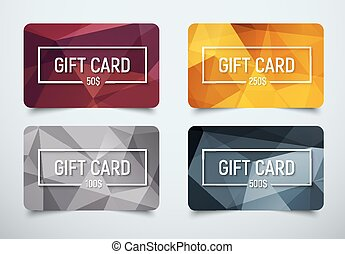Design a gift card with a frame for text and denomination....