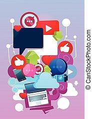 Internet Online Blogging Social Network Communication...