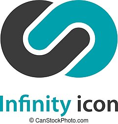 abstract infinity eight emblem - illustration for the web