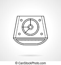 Abstract DJ mixer flat line vector icon