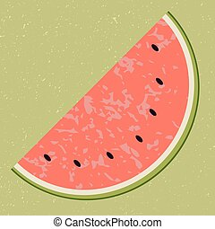 Fruit water melon clip art, vector