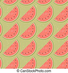 Seamless pattern fruit water melon