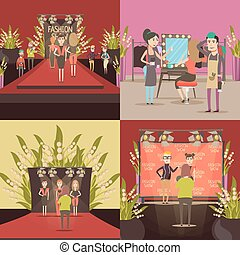 Fashion Show Design Concept - Catwalk fashion concept with...