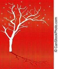 winter season tree