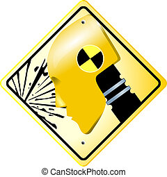 Crash test sign