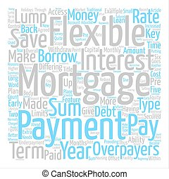 What Is A Flexible Mortgage text background word cloud...