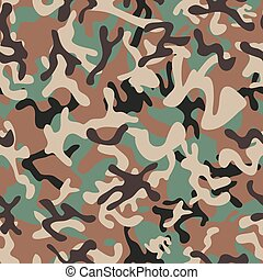 Syrian Woodland Camouflage seamless patterns. Vector...