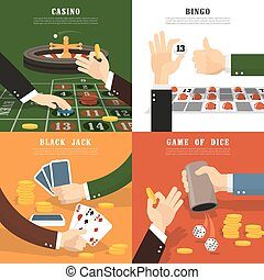 Winning Concept Icons Set - Winning concept icons set with...