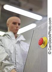 humanoid robot - worker in factory