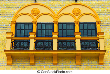 Three windows - four windows in residential area