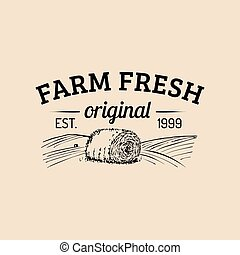 Vector farm fresh logotype. Organic premium quality products...