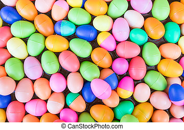 Colorful plastic eggs toy - The Colorful easter...