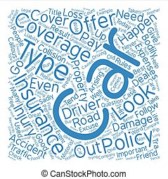 When Car Insurance Is Your Friend Word Cloud Concept Text Background